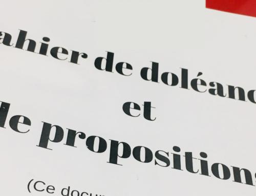 Le cahier de doléances et de propositions