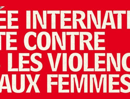 25 novembre – Journée internationale de lutte contre les violences faites aux femmes
