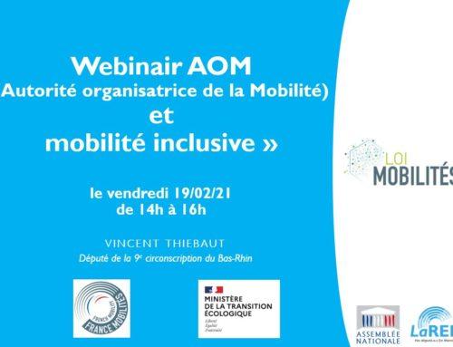Séminaire de travail sur les «nouvelles Autorités organisatrices de la Mobilité (AOM) et la Mobilité inclusive» avec les EPCI du Bas-Rhin