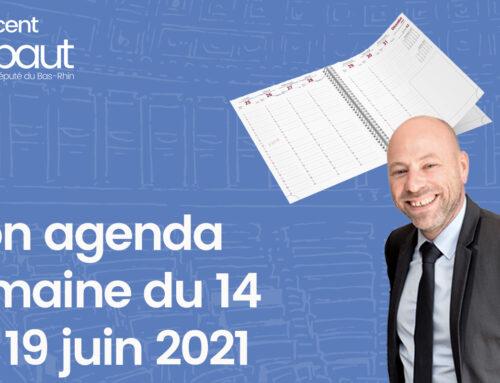 Mon agenda du 14 au 19 juin 2021