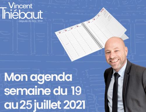 Mon agenda du 19 au 25 juillet 2021